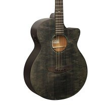 Faith FKVBK Naked Venus Cutaway Electro Acoustic Guitar, Black Spruce