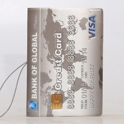 Credit Card Passport Cover With Elastic Band And Ticket Pouch