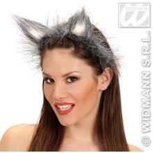 Hairy Fancy Dress Wolf Ears -  wolf ears fancy dress animal costume grey headband plush furry new werewolf halloween fluffy
