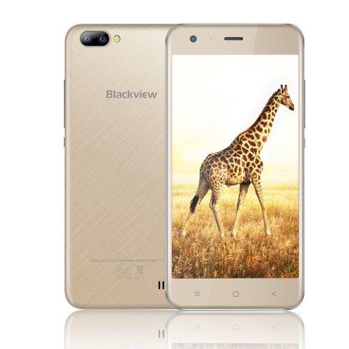 Mobile Phones Unlocked, Blackview A7 3G Dual SIM Free Smartphones - Gold