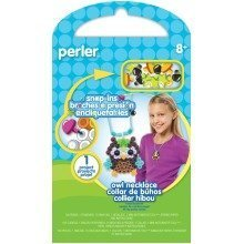 Prl52946 - Perler Beads - Snap Ins Activity Kit - Owl Necklace