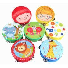 1PCS Creative Baby Musical Instruments Rattles Wooden PiLing Drum Baby Toys