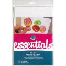 """Grafix Essentials Cling Film 6""""x9"""" 4/Pkg-Clear"""