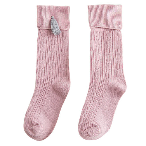 2-4 Years Old Baby Girl Stocking Knit Knee High Cotton Socks #05