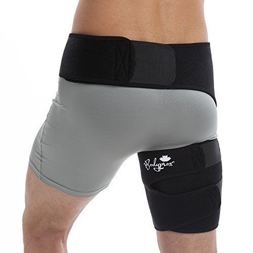 Groin Support Bandage, Adjustable Compression Wrap for Hip, Groin, Hamstring, Thigh, and Sciatic Nerve Pain Relief