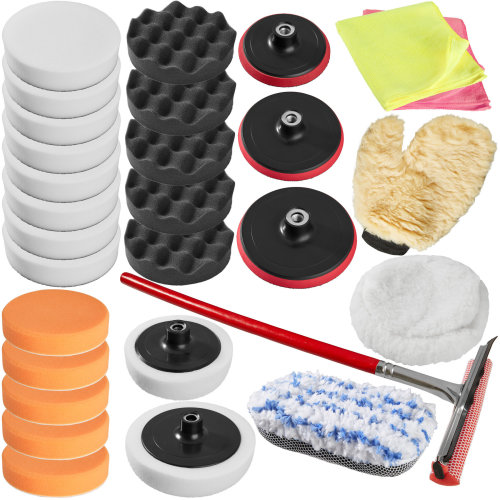 Polishing pads set 29 PCs - colorful