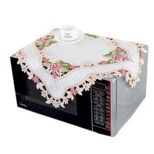 European Style Embroidered Microwave Oven Cover Microwave Protector, E