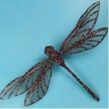Artificial Mesh Glittered Dragonflies