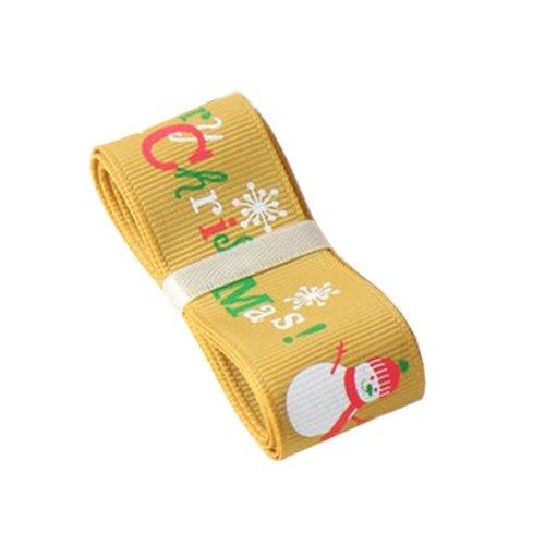 [Merry Christmas & Snowman] Beautiful Christmas Decor Ribbon DIY Decor Craft