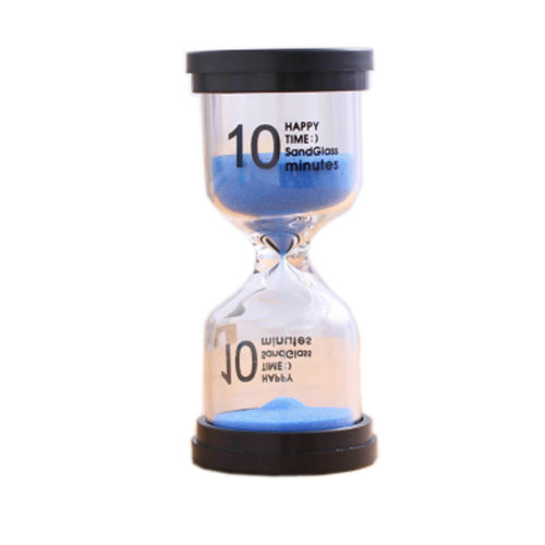 Colorful Sand Timer Hourglass Sandglass Small Ornaments Dropping Ueasily, 10 minutes + Blue