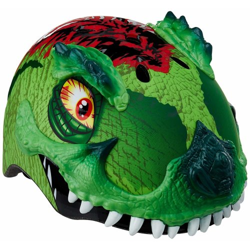 Razkullz T Rex Awesome Kids Scooter Skateboard Bike Helmet 50 to 54cm