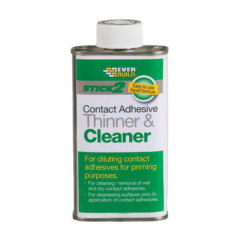 Everbuild Stick 2 Contact Adhesive Thinner And Cleaner Solvent Based 1 Litre