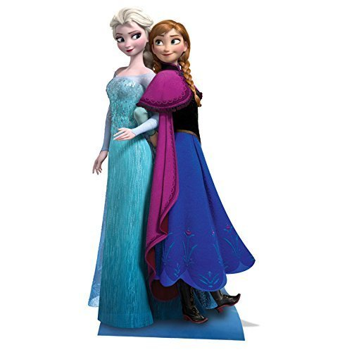 STAR CUTOUTS From the Official Disney Frozen Franchise Cardboard Cutouts of Anna & Elsa (Frozen Party Double Cutout)
