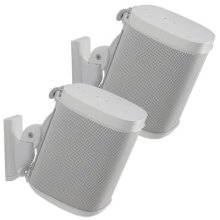 Sanus Adjustable Speaker Wall Mounts Designed For SONOS ONE, PLAY:1 & PLAY:3 - Pair (White)