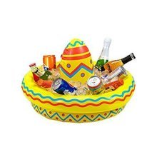 Large Inflatable Sombrero Party Drinks Cooler - Beer Wild West Mexican Hawaiian -  inflatable beer drinks cooler wild west mexican hawaiian fiesta
