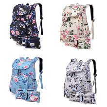 KONO 3pcs Girls Flower Backpack School Bag