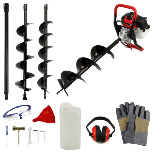 T-Mech Petrol Earth Auger Kit 52cc | Earth Borer & Safety Gear