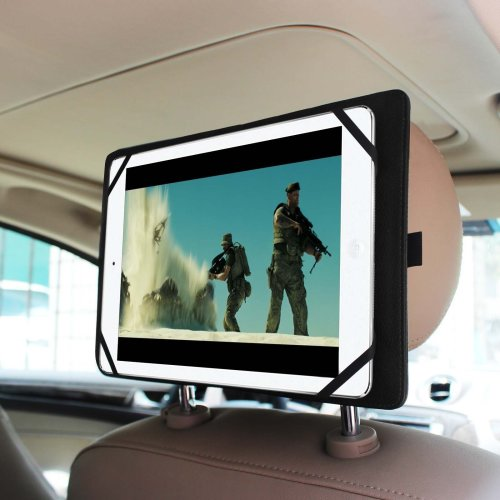"Fintie Universal Car Headrest Mount Holder for 7"" to 11-Inch Tablet PC, Black"