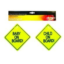 Blackspur Bb-cs109 Baby And Child On Board Car Sign -  board child suction baby car signs safety cup cups vehicle