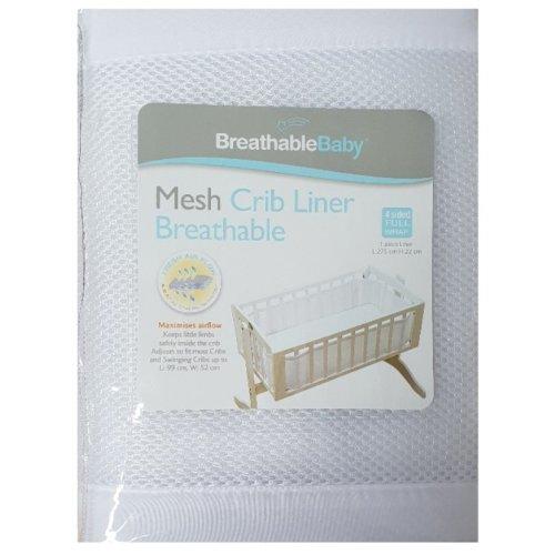 BreathableBaby Mesh Crib Liner- 4 sided Full Wrap