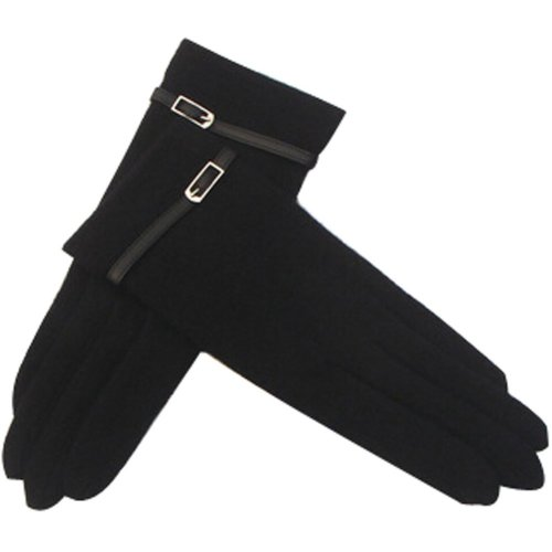 Classic Wool Gloves Autumn And Winter Keep Warm Touch Screen Gloves Black