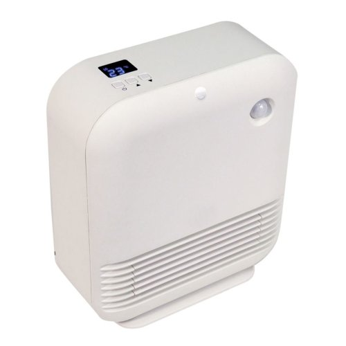 Prem-I-Air Elite 1.5kW Floor Standing PTC Fan Heater With Energy Saving PIR Sensor and Adjustable Thermostat
