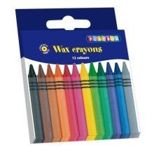 Pbx2470502 - Playbox - Wax Crayons (thin) - 88 Mm, Ï 8 Mm - 12 Pcs