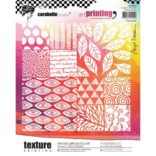 Carabelle Studio Art Printing Square Rubber Texture Plate-Patchwork