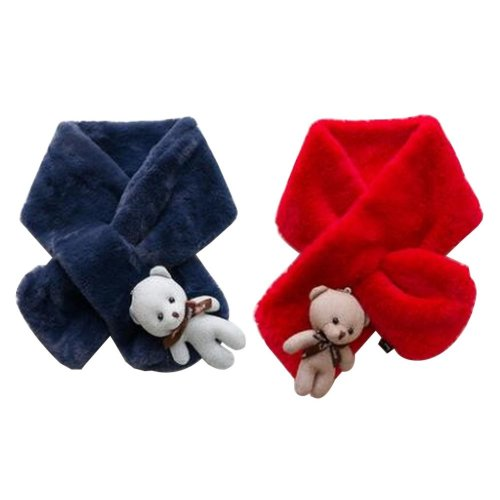 Set of 2 Cute Kids Scarves Children's Scarves Suitable for Winter [X]