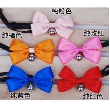 [Solid Color] Bowknot Collar/Bow-Tie with Bell for Cat & Dog(Random Color)