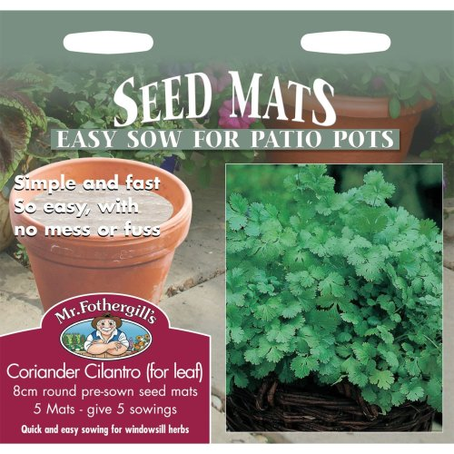 Mr Fothergills - Pictorial Packet - Herb - Coriander Cilantro For Leaf 8cm Seed Mats