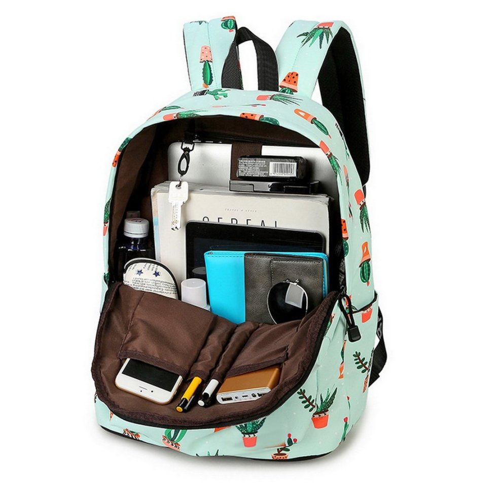 9d7d369a1a ... Acmebon Lightweight Fashion School Backpack for Boys and Girls Women Casual  Backpack Purse Cactus 626 ...
